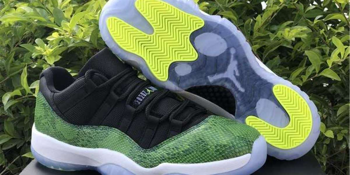 The Jordan 11 Retro Low Green Snake come back now