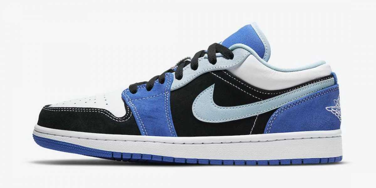 Air Jordan 1 Low Blue Black White 2021 New Arrival DH0206-400